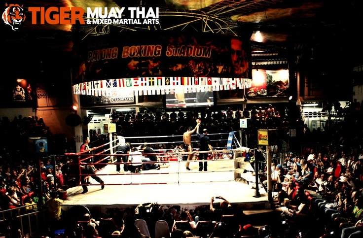 Fight night at Patong Boxing Stadium!! Muay Thai battles several times a week...check out the action or get in the ring yourself!! www.tigermuaythai.com