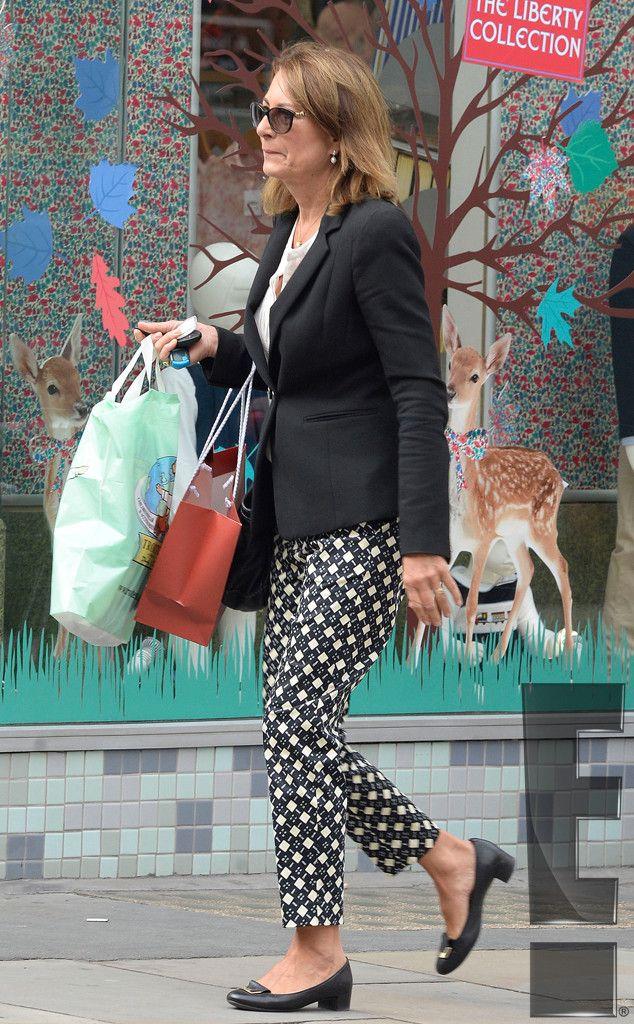 Carole Middleton shops for Princess Charlotte.