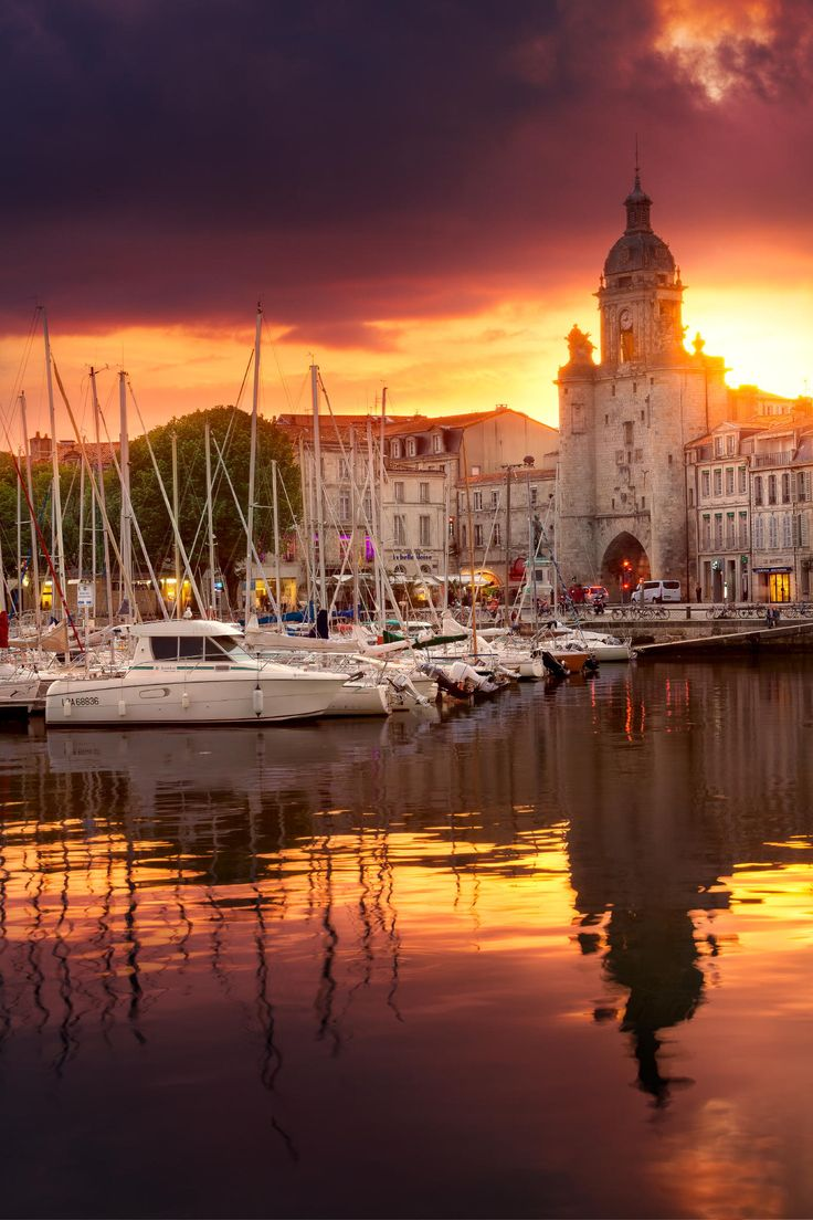 Sunset in La Rochelle, France