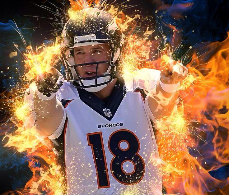 On fire.  Peyton Manning