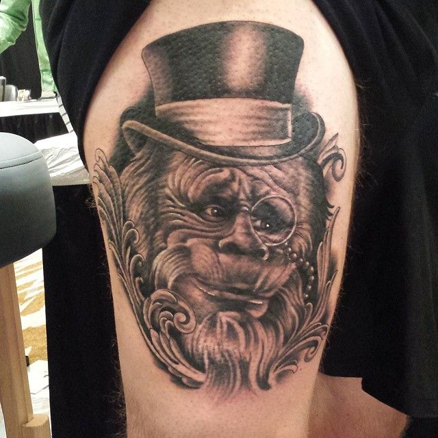 my harry henderson from today at @nixtattooshow 4 hours had a blast tattooing this ive wanted to tattoo it for a while #nixtattooshow #blackandgreytattoo #bestartist #inkmaster #bestink #canadainked #canadainink #getink_canada #great_white_north_tattoos #electrum #eikondevice #eikonems320