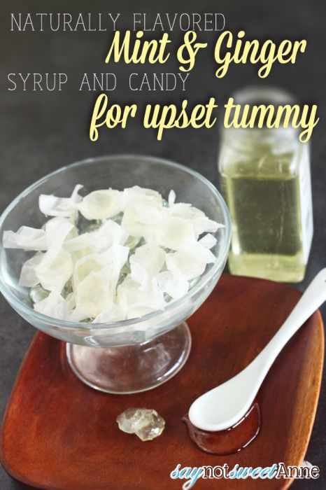 Easy to make Mint and Ginger Candies - Natural soothing flavors great for upset tummies!   saynotsweetanne.com