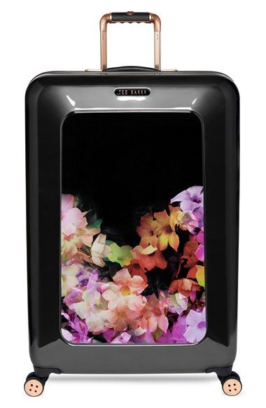 Ted Baker London 'Large Cascade Floral' Hard Shell Suitcase (32 Inch) available at #Nordstrom