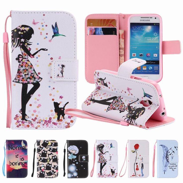 Flip Case For Hoesje Samsung Galaxy S4 Mini Case Cover Samsung S4 Mini Case Leather For Fundas Samsung Galaxy S4 Mini i9190 Case