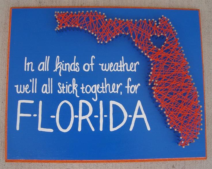 University of Florida string art #GoGators