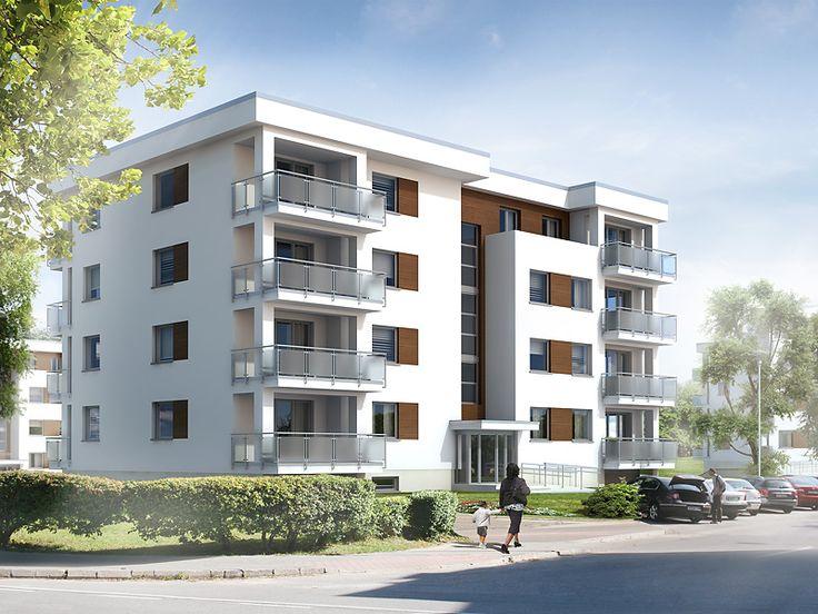 Akant 2 to wielorodzinny budynek mieszkalny, w którym na czterech kondygnacjach zaprojektowano 14 mieszkań. W podziemiu zaprojektowano 9 miejsc postojowych, kotłownię oraz komórki lokatorskie. Pełna prezentacja projektu znajduje się na stronie: http://www.domywstylu.pl/projekt-domu-akant_2.php.  #projekty, #wielorodzinne, #mieszkania, #akant2, #domywstylu, #mtmstyl