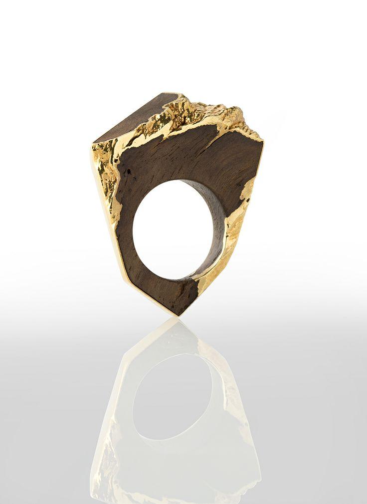 Oak and gold ring www.dianeturnerjewellery.com
