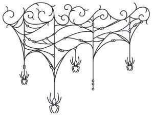Gothic Gala - Cobweb Drape_image