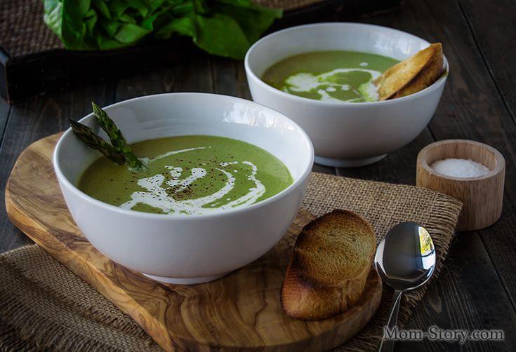 Крем суп из спаржи простой рецепт - Mom Story