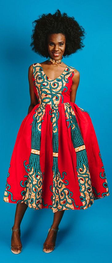 African Print Senegal Midi Dress: 2820 Best Images About African Fashion On Pinterest