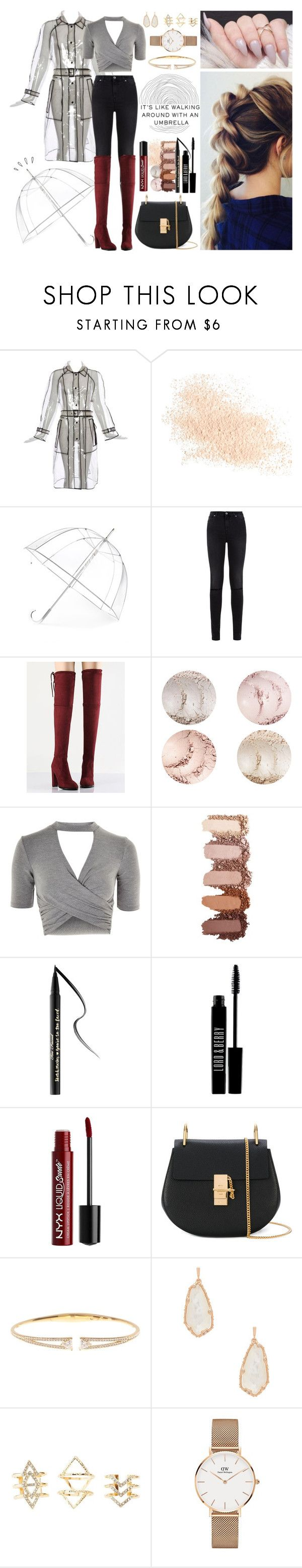 """""""Rainy Day"""" by jk802 ❤ liked on Polyvore featuring Eve Lom, Totes, 7 For All Mankind, WithChic, Topshop, Too Faced Cosmetics, Lord & Berry, Charlotte Russe, Chloé and Nadri"""
