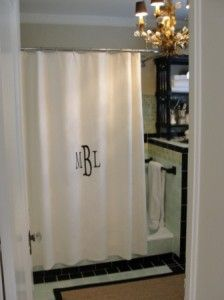 monogram a Target waffle shower curtain for a custom look
