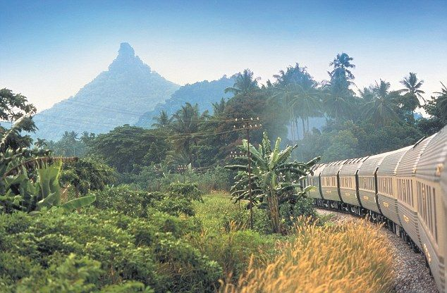 The Eastern & Oriental Express near Singapore taken by writer Ivo Dawnay and wife Rachel Johnson