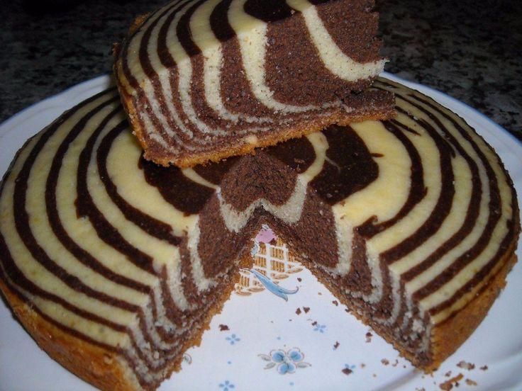 Пирог «Зебра» в мультиварке | Самые вкусные кулинарные рецепты