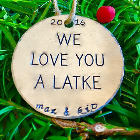 We Love You a Latke/Hanukkah Decorations/Jewish by FusionedFamily