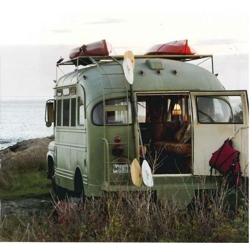 """MIGHT BE A FUN PROJECT ... I have always LOVED the idea of a """"bus camper"""" for a…"""