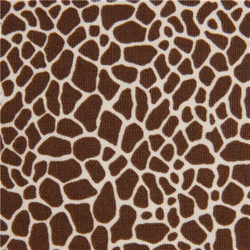 brown giraffe print fabric by Timeless Treasures USA