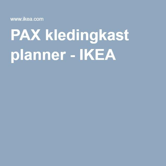PAX kledingkast planner - IKEA