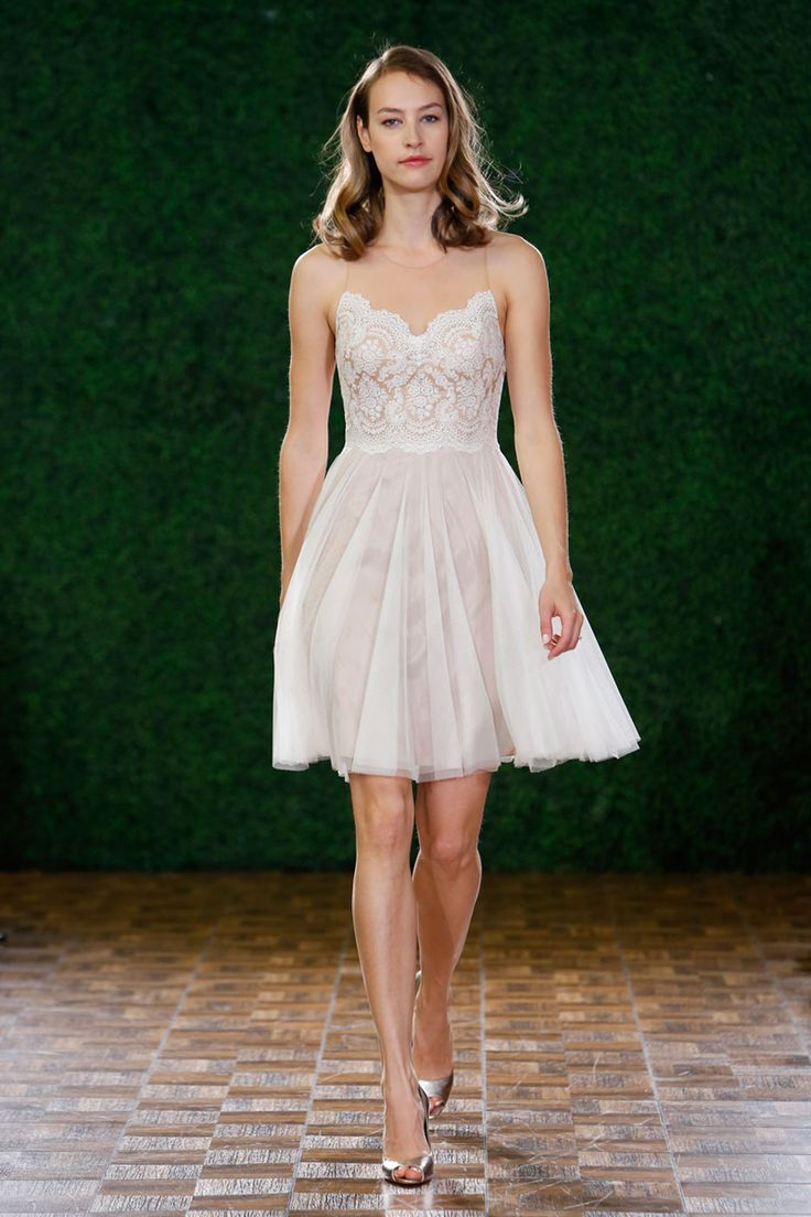 Watters  from 20 Gorgeous Short Wedding Dresses - Short Designer Wedding Gowns - Elle