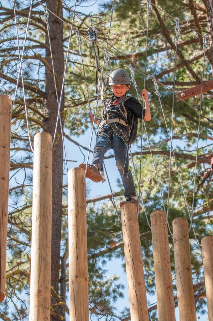 LAKE TAHOE: Comprised of 65 tree platforms, 50+ bridges, and 13 zip lines, the Tahoe Treetop Adventure Park is the first Aerial Adventure Park in California. Located on the North Shore of Lake Tahoe near Tahoe City at Granlibakken resort.