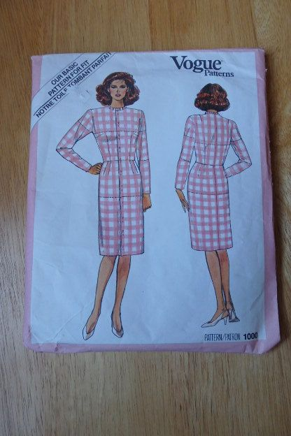 Vogue Dress Pattern 1000 Uncut Size 10 by JustPatTreasuresshop
