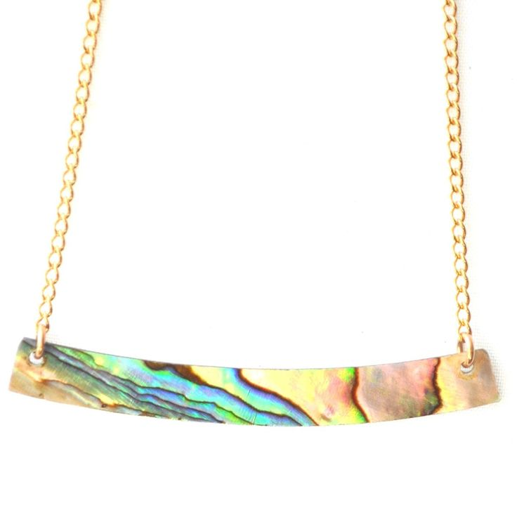Best Seller! iridescent Abalone Shell Bar Necklace   BELLABEACHJEWELS.COM mermaid jewelry