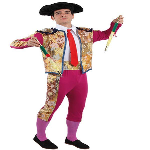 DisfracesMimo, disfraz de torero luces lujo para hombre talla 48. Compra tu disfraz barato adulto para tu grupo. Este traje es ideal para tus fiestas temáticas de toros y toreros.fabricacion nacional