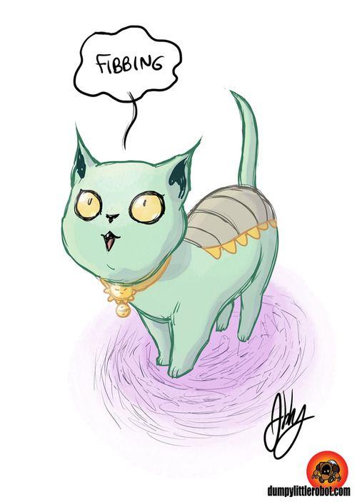 fibbing cat! ^_^ | lying cat saga art