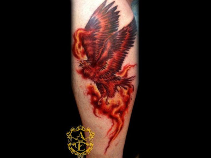 Tribal Phoenix Rising Tattoo Real