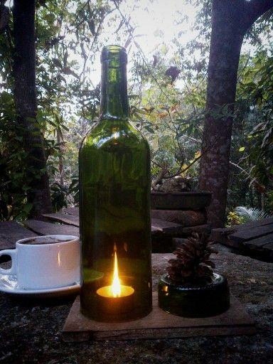 Wine bottle candle, romantisss