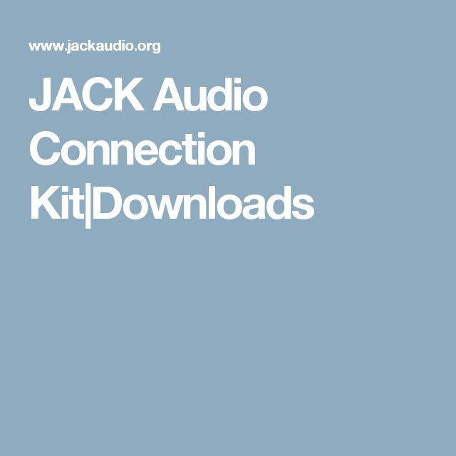 JACK Audio Connection Kit|Downloads