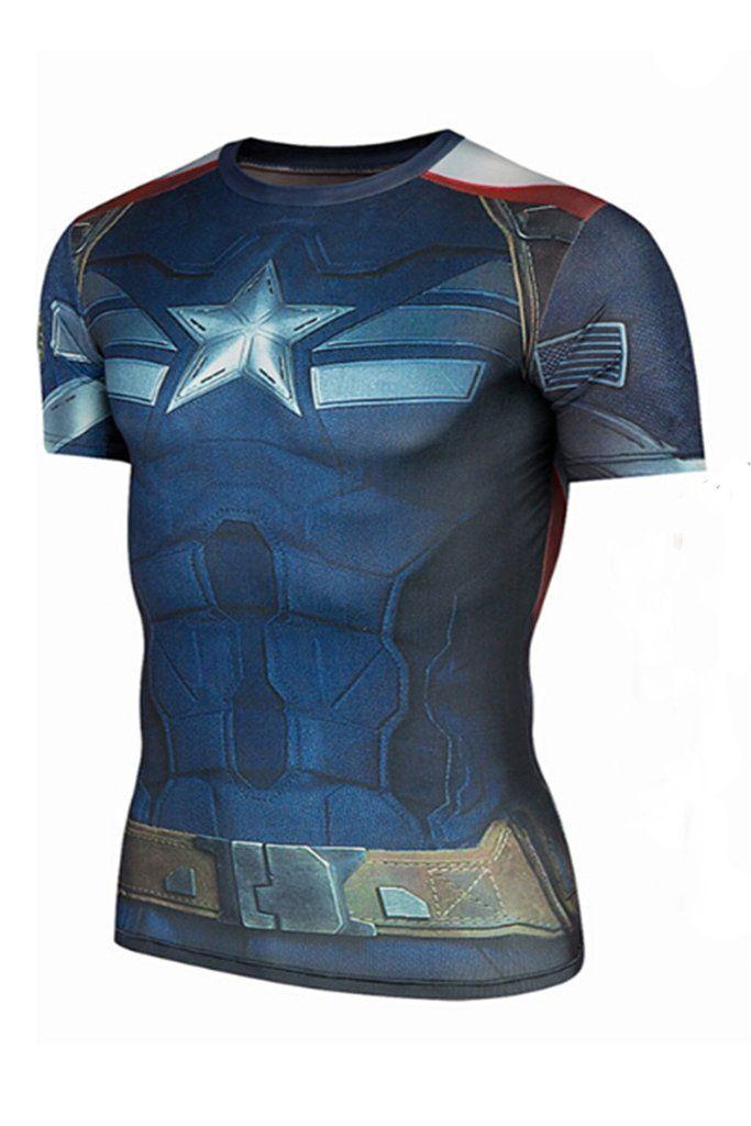 3D Captain America Printed T-shirt #10-30 #meta-filter-color-blue #meta-filter-size-l #meta-filter-size-m #meta-filter-size-s #meta-filter-size-xl
