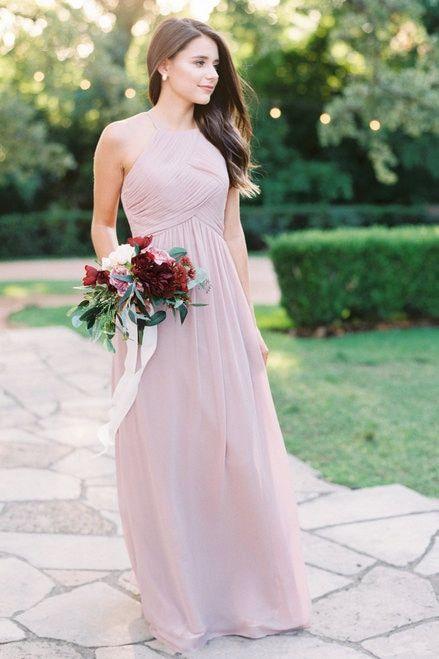 63623c6143e Mckenzie Chiffon Bridesmaid Dress in Marsala