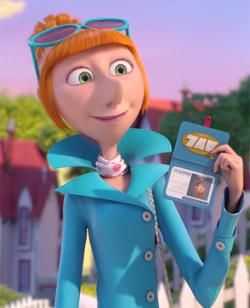 Despicable me 2 lucy wilde costume badge glssses