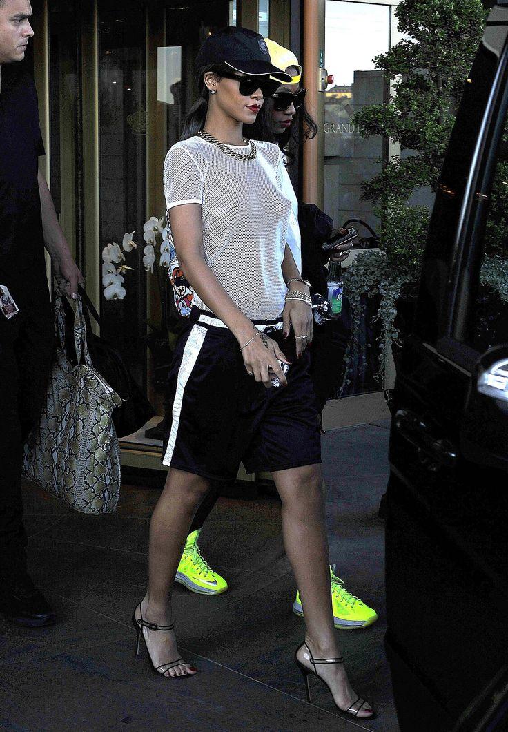 Rihanna - basketball shorts - aug 2016