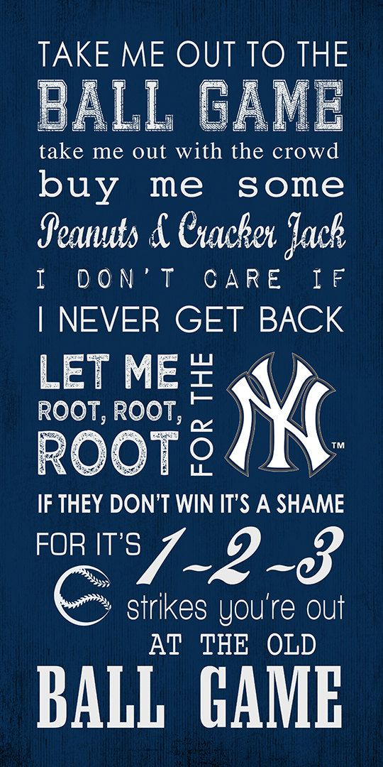 New York Yankees Take Me Out To The Ball Game by CreativeStudio186