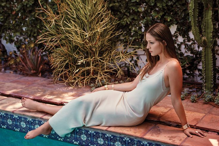 Melissa Benoist in a dress by The Row photographed by Tommaso Mei for Vanity Fair Italia, September 2016. Makeup by Jaime Greenberg.
