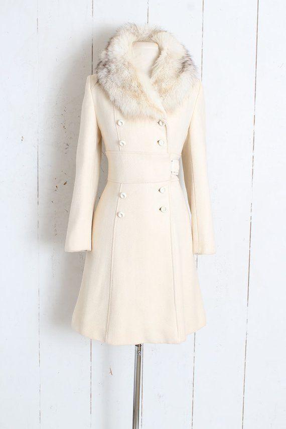 large vintage coat size medium vintage 1960s beige winter wool coat 1960s wool coat