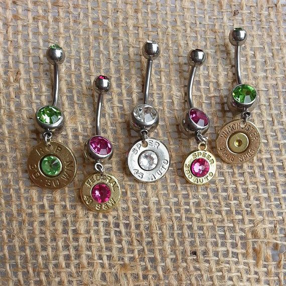 Bullet Navel Belly Button Rings for the Country by GunPowderWoman, $13.00