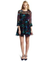 aryn K Womens Long Sleeve Dress