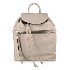 Pasito Lederrucksack mit Metallic-Details beige | Pasito Online Shop