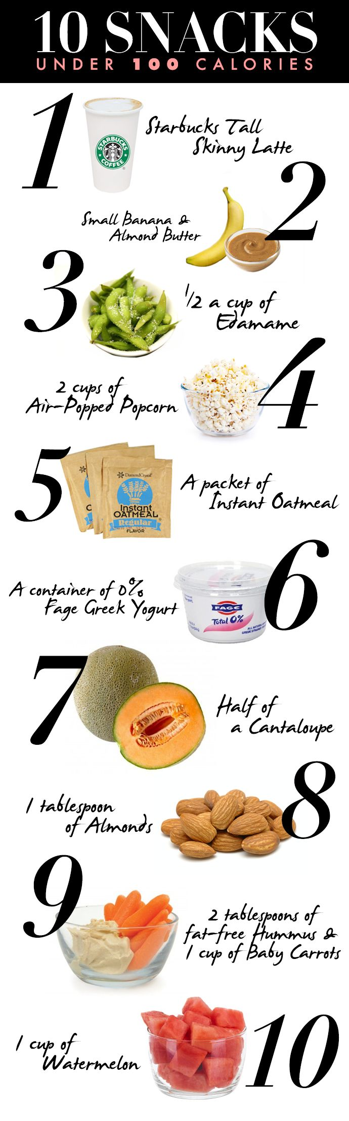 10 Healthy Snacks That Clock in at 100 Calories or Less