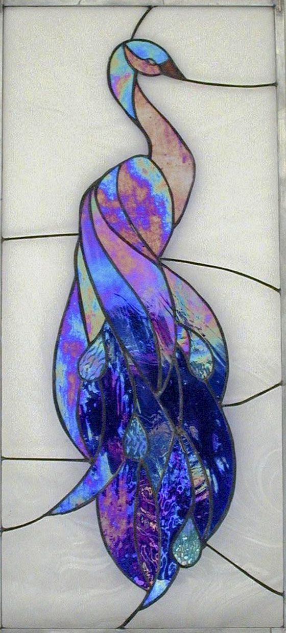 My Myles peacock. This is the first stained glass I made. In honor of my wonderful teacher Myles Stokes. I miss him a lot.