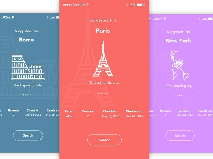 Concept UI - Travel App