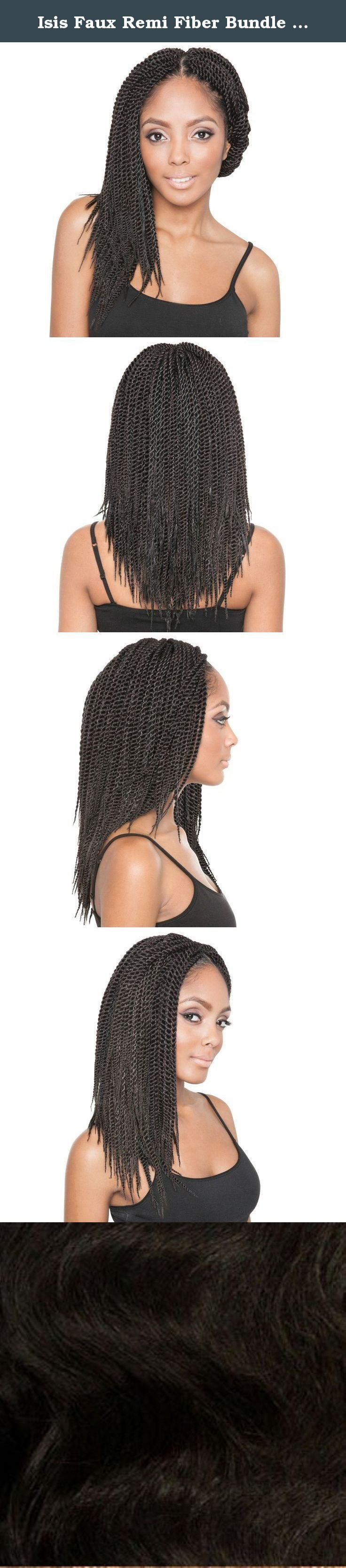 Isis Faux Remi Fiber Bundle Braid / Bulk SENEGALESE TWIST 14 Inch - 2. Originating from West Africa we bring you exclusive hand-made styles of Senegalese Bundles for crocheting! Create wonders withour Faux Remi Senegalese Bundle, hair that is not only protective but soft to the touch causing no irritation and easy to install.Great for socializing, youand yourfriends will easily get hooked on Faux Remi Senegalese Bundle crochet styles straight fromthe Motherland!.