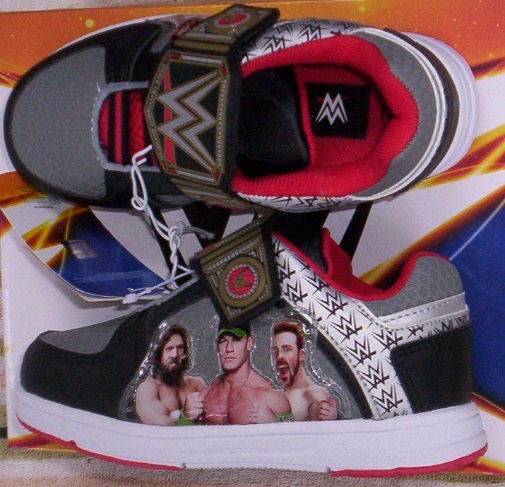 WWE John Cena Sneakers Boy's 10 NEW Shoes Wrestlers Sheamus Daniel Bryan #WWE #Athletic