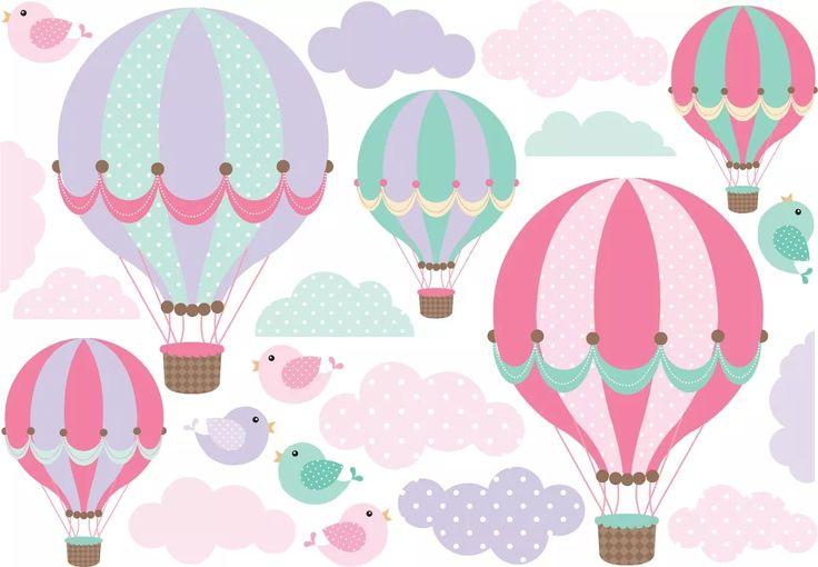 vinilo globos aerostáticos combo