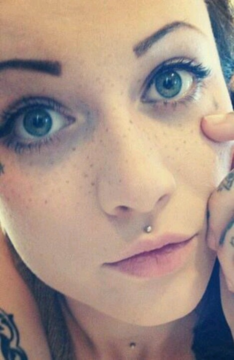Medusa piercing? Little and sparkly? Maybe.