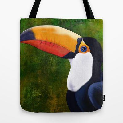 Toucan+Tote+Bag+by+Mario+Laliberte+-+$22.00