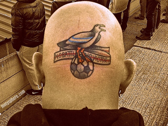 Scarborough Athletic - No Battle No Victory Tattoo by footysphere, via Flickr